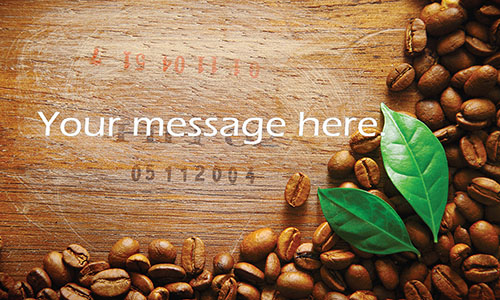 Coffee Beans Shop Business Card - Design #1001031