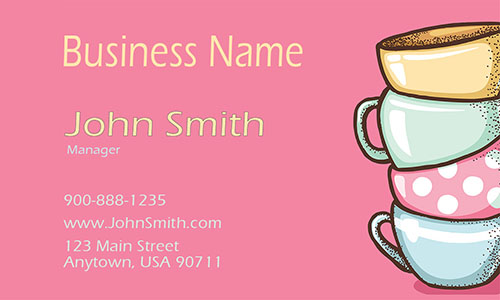 Cheerful Tea Lounge Business Card - Design #1001051