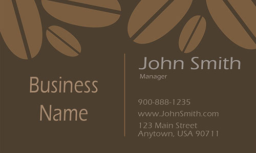 Tea and Coffee Shop Business Card - Design #1001061
