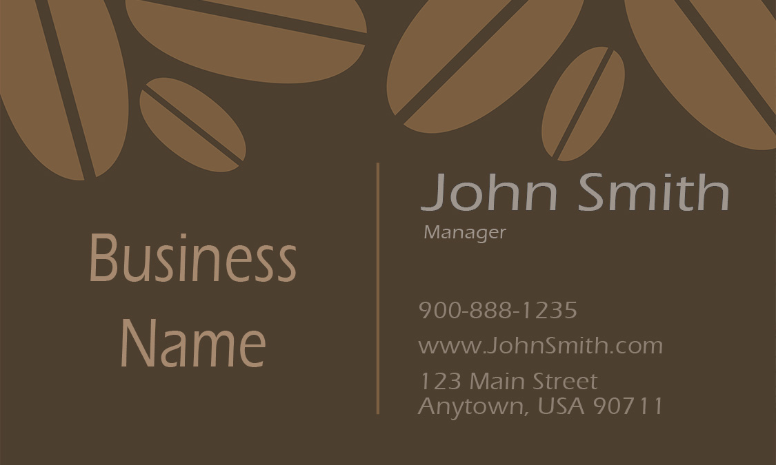 and Coffee Shop Business Card - Design #1001061