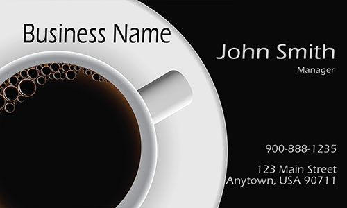 Elegant Tea and Coffee Lounge Business Card - Design #1001081
