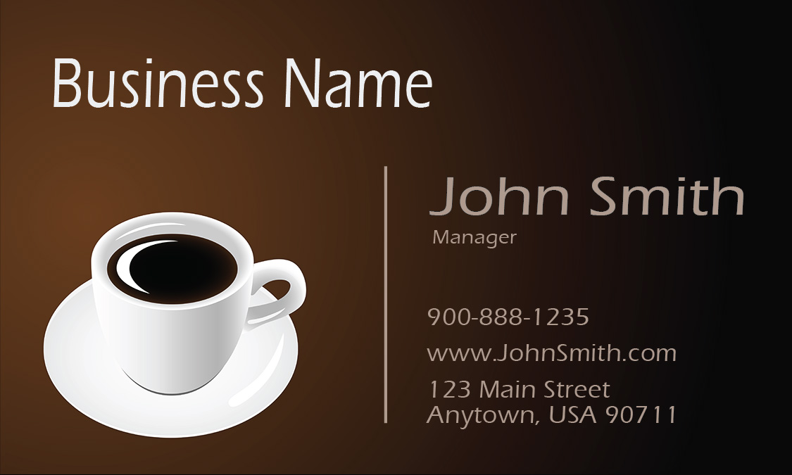 Brown coffee shop business card design 1001091 wajeb Choice Image