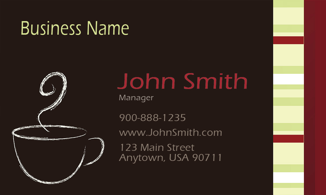 Italian coffee shop restaurant business card design 1001101 colourmoves