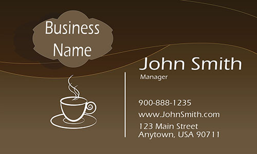 Hot Coffee Shop Business Card - Design #1001131