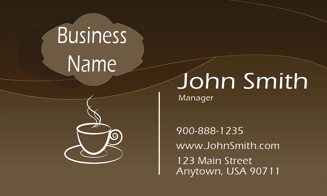 back hot coffee shop business card hot coffee shop business card ...