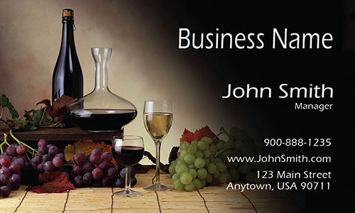 Winery Restaurant Business Card - Design #1001191