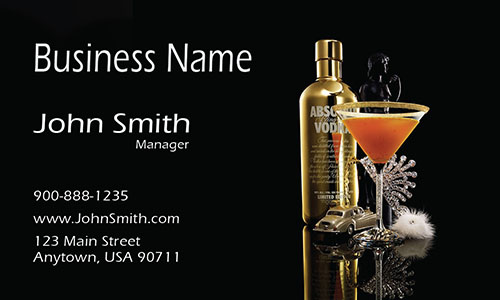 Absolute Vodka Bar Business Card - Design #1001201