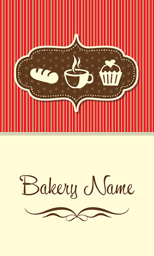 Vertical Bakery Business Card - Design #1001221