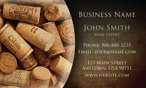 Wine Expert Business Card - Design #1001231