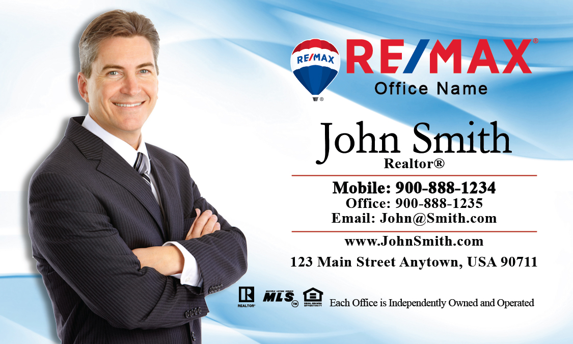 And blue remax business card design 101011 white and blue remax business card design 101011 colourmoves