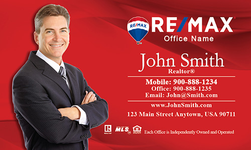 Remax realtor business card templates online free shipping passion red remax business card design 101012 reheart Gallery