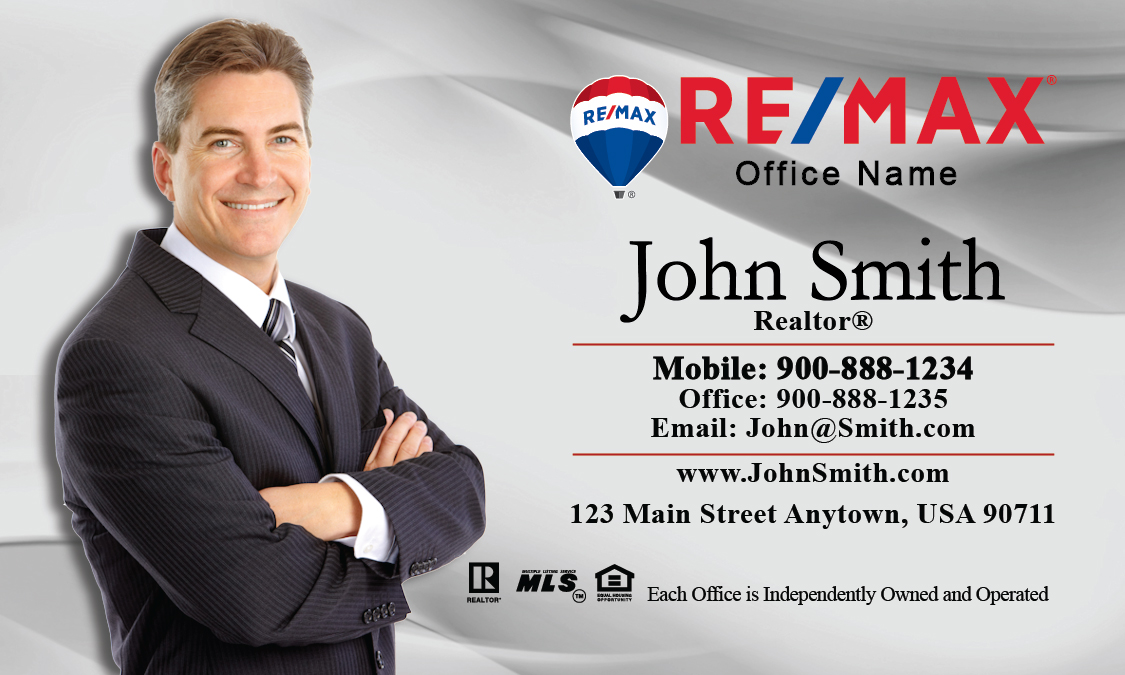 Gray Remax Agent Business Card Design 101013