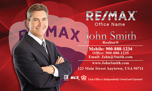 Custom Red with Remax Balloon Business Card - Design #101022