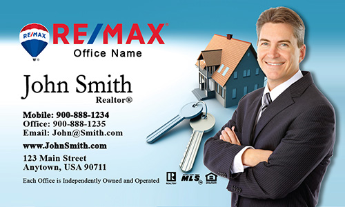House and Key Remax Business Card - Design #101031