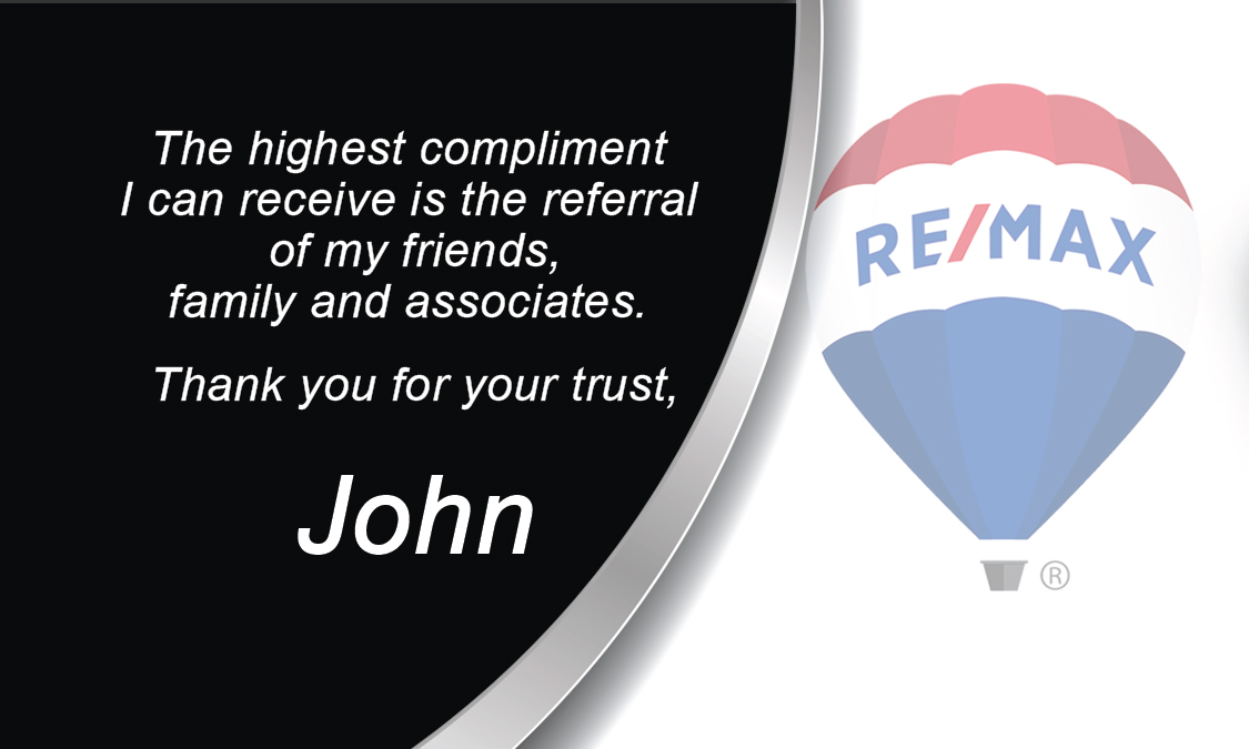 Black and White Remax Realty Business Card - Design #101041
