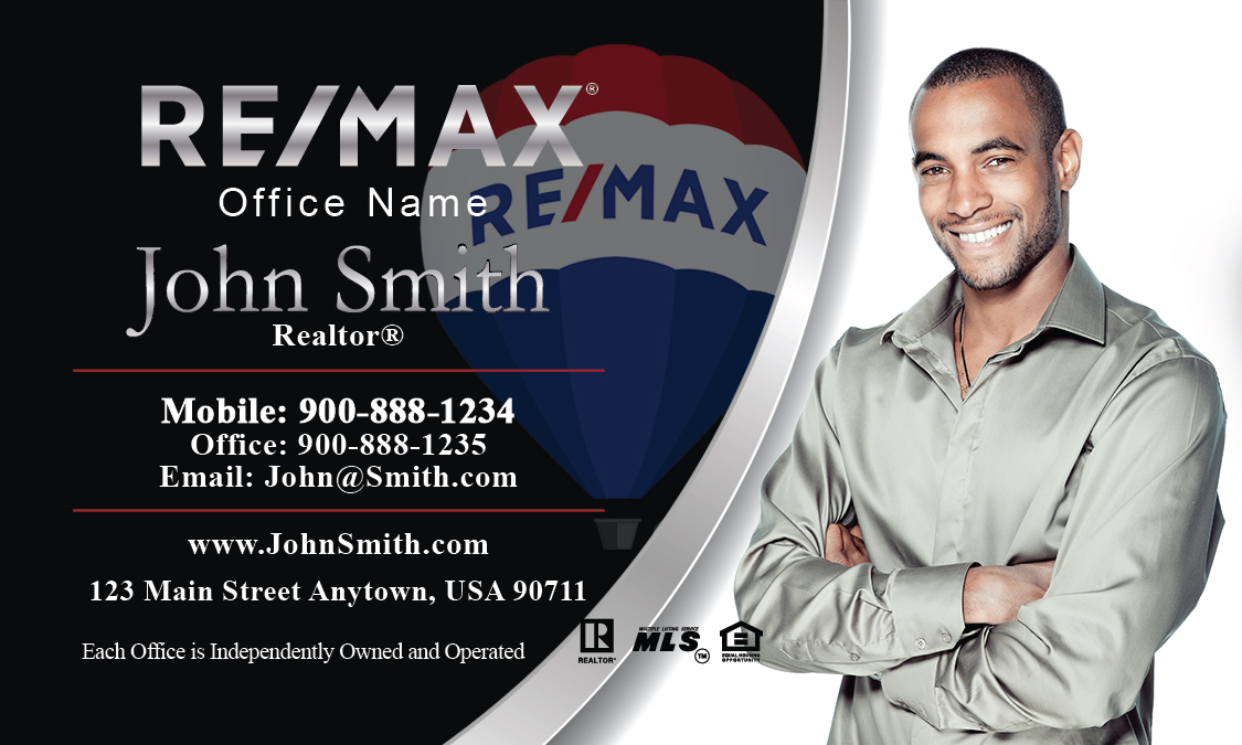Black and white remax realty business card design 101041 colourmoves