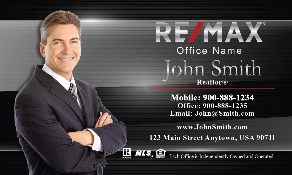 Metallic shine remax business card design 101081 colourmoves