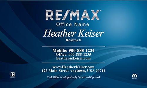 Beautiful Blue Remax Business Card - Design #101091