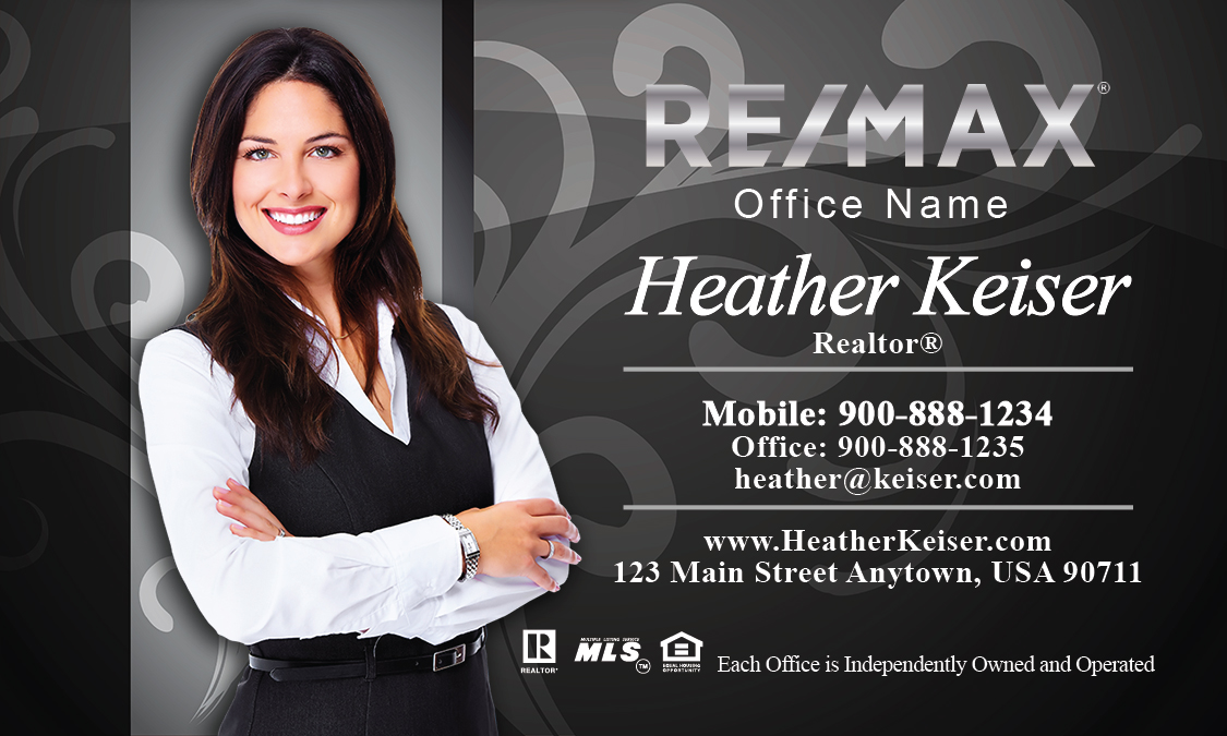 With elegant swirls remax business cards design 101101 black with elegant swirls remax business cards design 101101 fbccfo Gallery