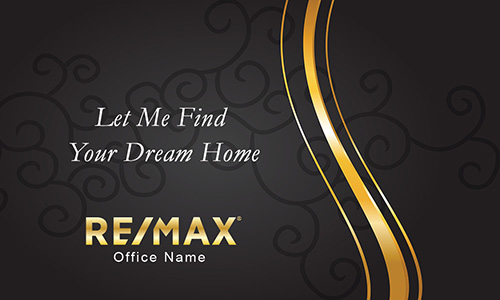 Remax realtor business card templates online free shipping black and gold remax business card with photo design 101111 fbccfo Gallery