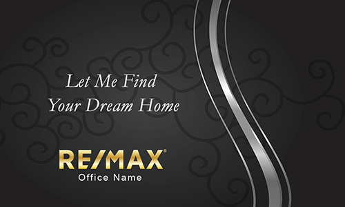 Black and Silver Remax Business Card with Photo - Design #101112