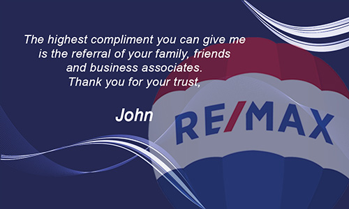 Blue Remax Business Card with Agent Head shot - Design #101122
