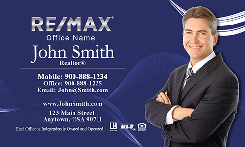 Remax realtor business card templates online free shipping blue remax business card with agent head shot design 101122 fbccfo Choice Image