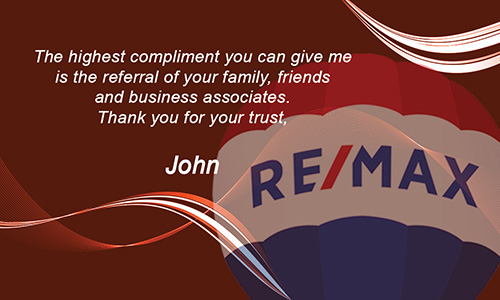 Professional Red Remax Business Card with Photo - Design #101123
