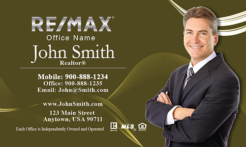 Professional Yellow Remax Business Card with Photo - Design #101124