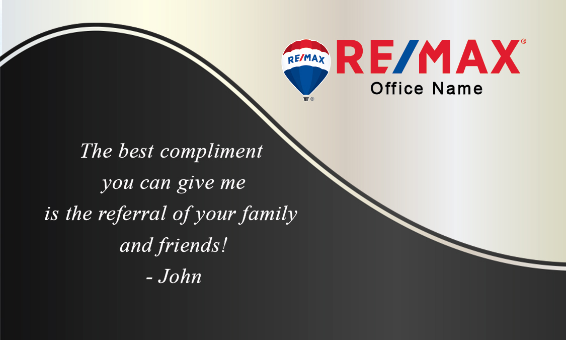 Plain with Personal Photo Remax Business Card - Design #101131