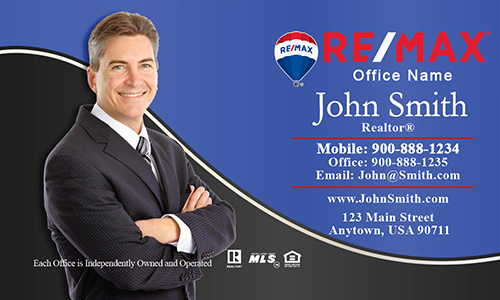 Professional Plain with Personal Photo Remax Business Card - Design #101132