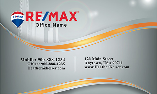Remax Real Estate Broker Business card - Design #101161