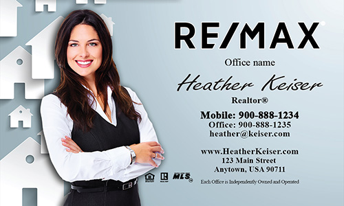 Blue Remax Mortgage Specialist Business Card - Design #101171