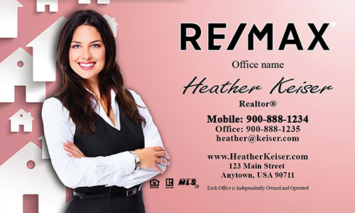 Red Remax Mortgage Specialist Business Card - Design #101172