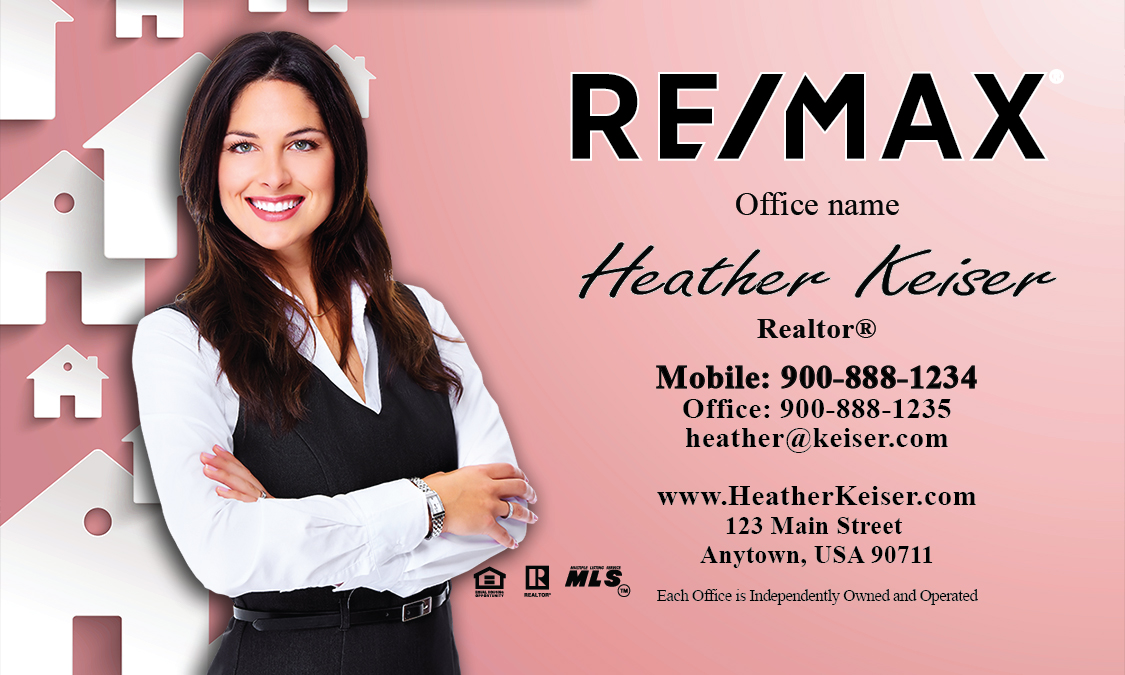 Remax Realtor Business Card Templates Online FREE Shipping
