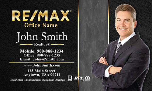 Charcoal Black Remax Real Estate Business Card - Design #101193