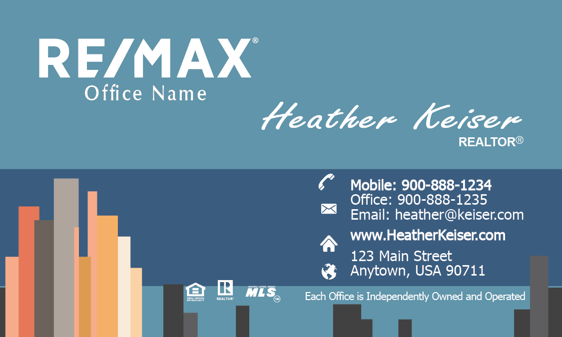 View Remax Real Estate Business Card - Design #101201