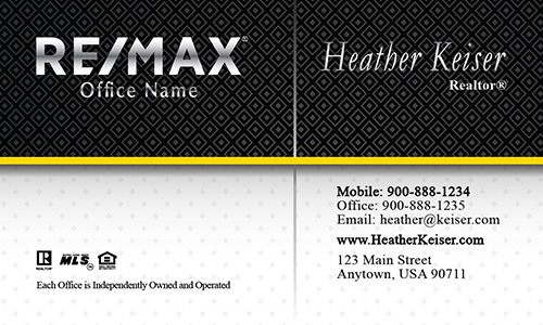 Classic Real Estate Remax Business Card - Design #101231