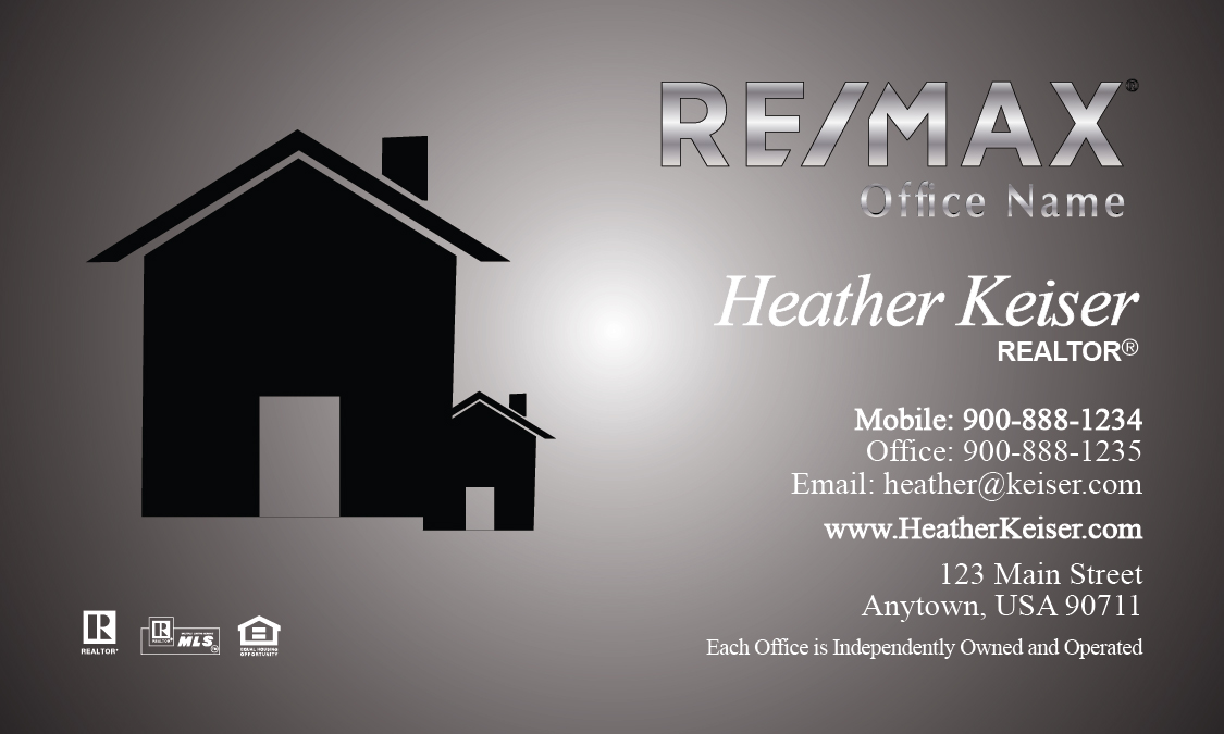 Remax Realtor Business Card Templates Online | FREE Shipping..