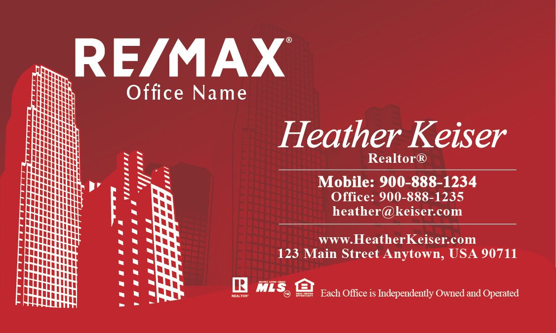 New york style remax business card design 101251 reheart