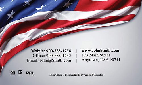 American Flag Remax Business Card - Design #101261