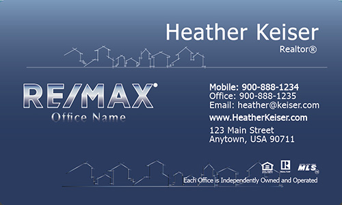Gradient Abstract House Remax Business Card - Design #101271