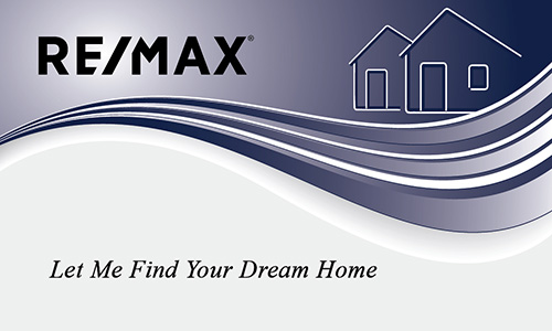 Classic Realtor Remax Business Card with Abstract House - Design #101281