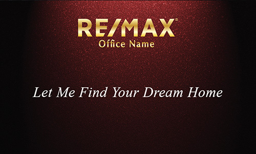 Gold Remax Logo Red Realtor Business Card - Design #101311