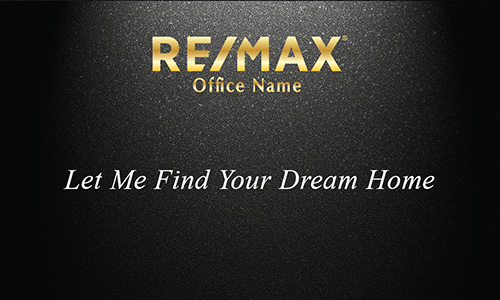 Gold Remax Logo Black Realtor Business Card - Design #101312