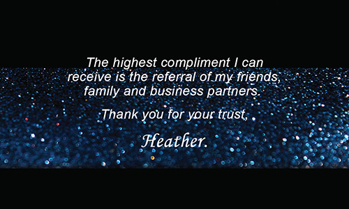 Holiday Glitter Blue Remax Business Card - Design #101353