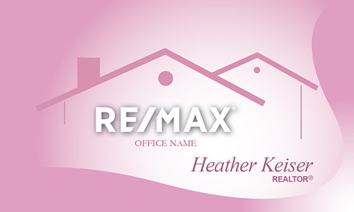 Cute Pink Remax Business Card - Design #101361