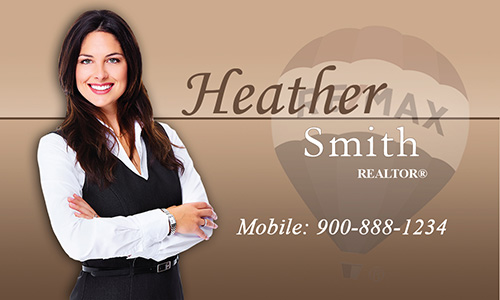 Remax Balloon Brown Realtor Business Card - Design #101371