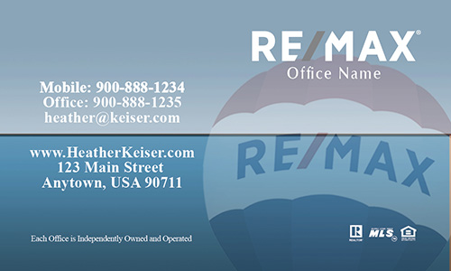 Remax Balloon Blue Realty Business Card - Design #101372