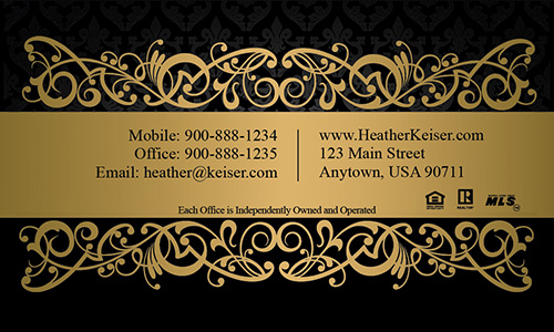 Upscale Real Estate Business Card - Design #101411